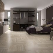 Wall – Vein B 459 Dark Brown. Floor – Vein B 159 & 459 Almond
