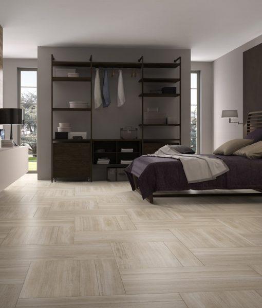 Wall - Vein B 459 Dark Brown. Floor - Vein B 159 & 459 Almond
