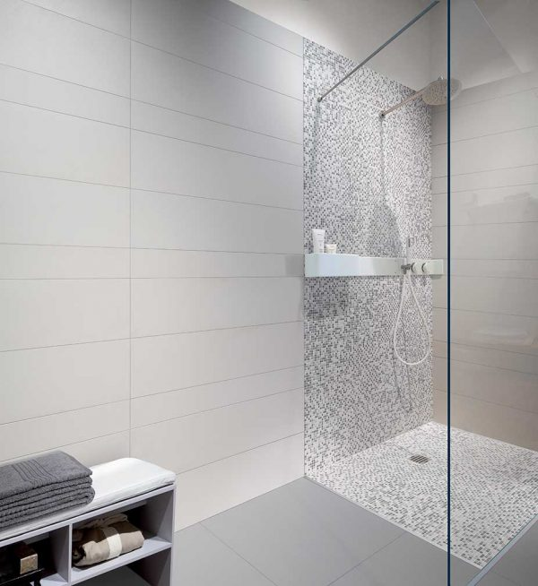 Architecture Cool Grey Gloss, White Matte, Mosaico