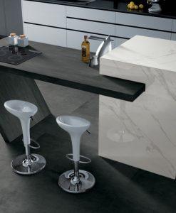 Floors - Skyline Fumo, Counter Top - Skyline Antracite, Middle Block - I Marmi
