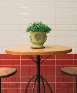 Bella Vita Cream and Red Malford Tiles Singapore