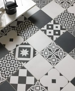 Ciment 200 Blanco 200 Noir 200 Mix Noir&Blanco Malford Tiles Singapore