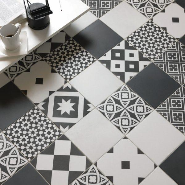 Ciment 200 Blanco 200 Noir 200 Mix Noir&Blanco Malford Tiles Singapore