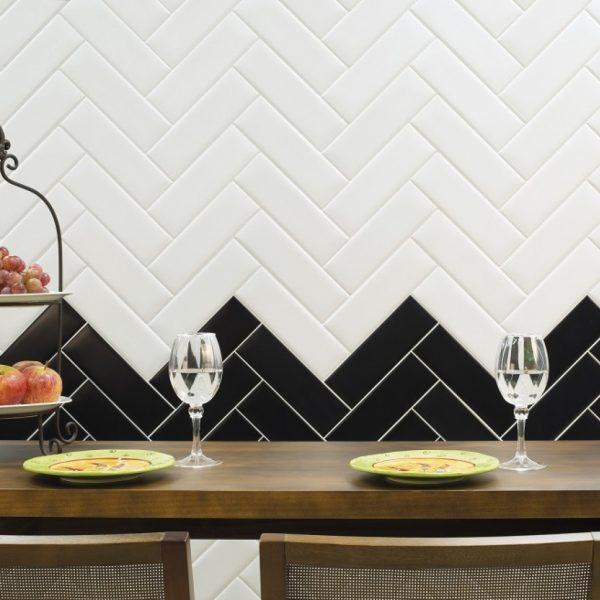 Decora Black Mat and White Mat Malford Tiles Singapore