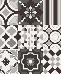 Patchwork B&W Mix Malford Tiles Singapore 1
