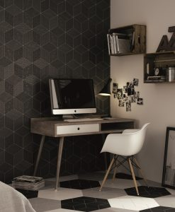 Rhombus Black Malford Tiles Singapore