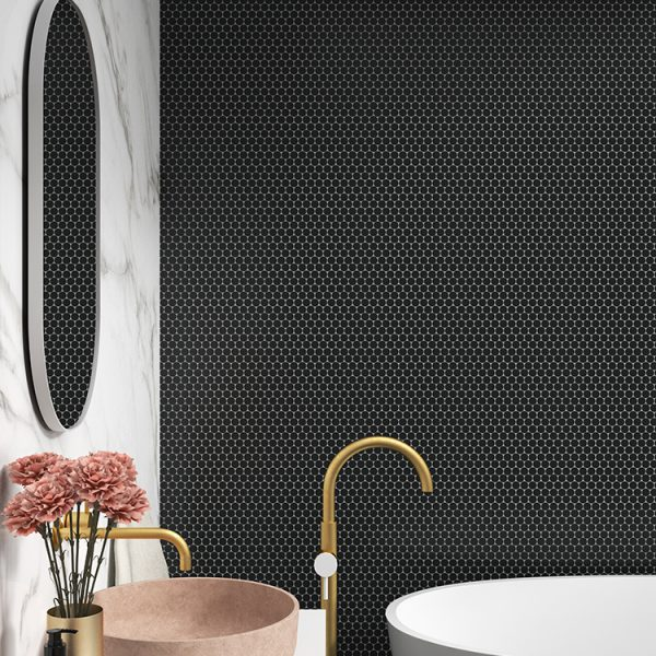 circle matte black mosaic singapore