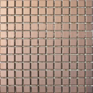 podium copper 25x25mm metallic glass mosaics