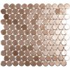 podium copper circle metallic glass mosaics