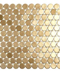 podium gold circle metallic glass mosaics