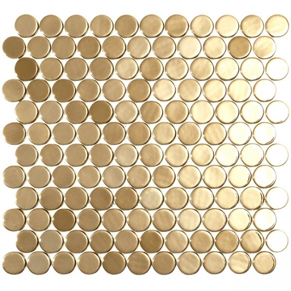 podium gold circle metallic glass mosaics