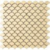 podium gold fan shaped metallic glass mosaics