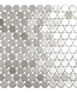 podium silver circle metallic glass mosaics