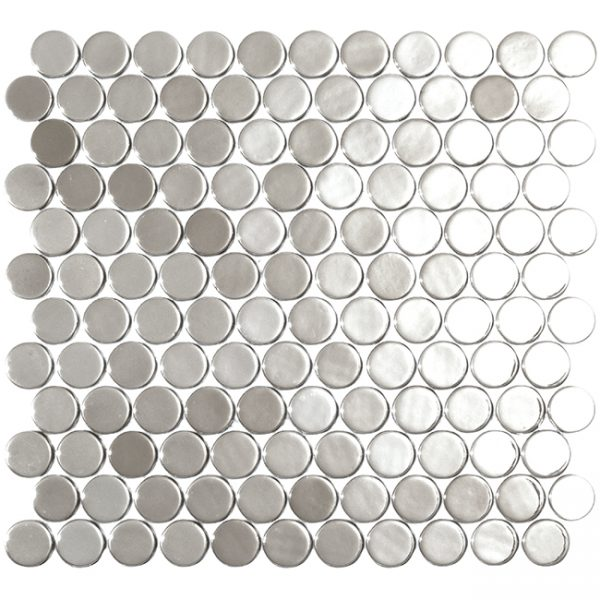 podium silver circle metallic glass mosaics