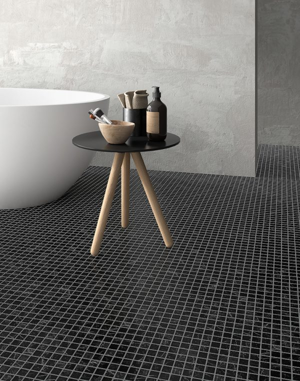 nero marquinha mosaics by malford ceramics