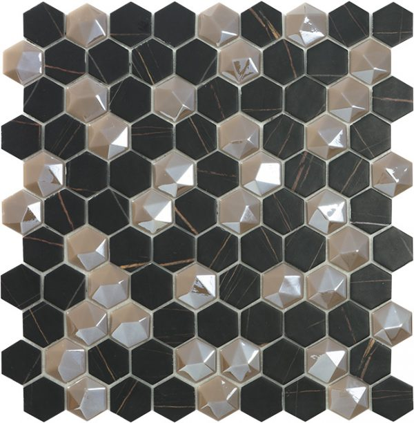 supreme sahara mix hex mosaics by malford ceramics