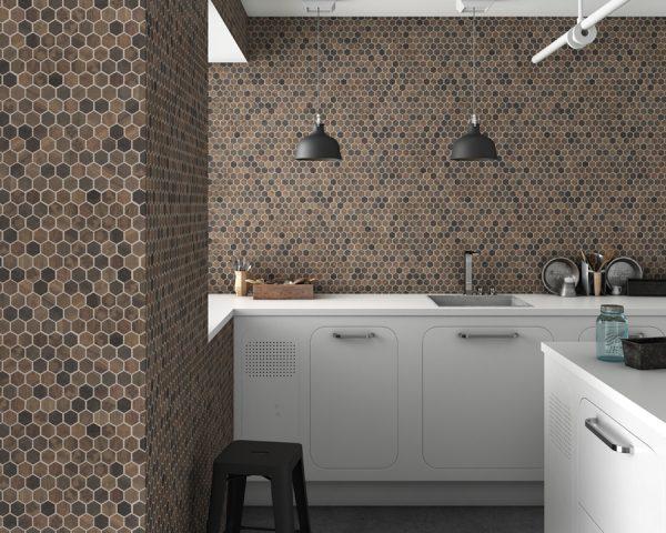 wood royal dark hex mosaics 1