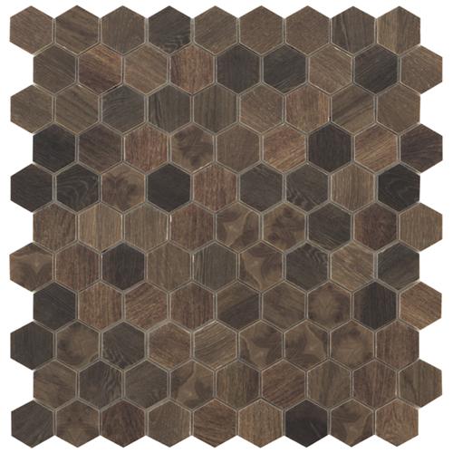 wood royal dark hex mosaics by malford ceramics