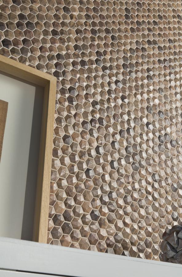 wood royal light 3d hex mosaics 1
