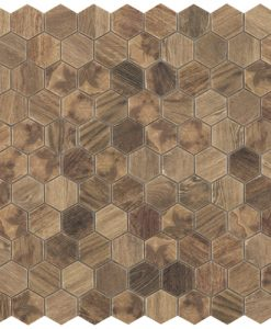 wood royal light hex mosaics by malford ceramics