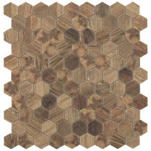 wood royal light hex mosaics by malford ceramics